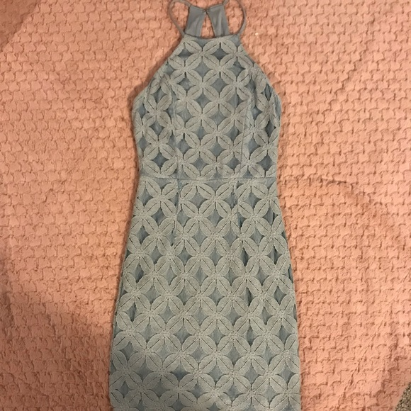 Charlotte Russe Dresses & Skirts - Tight baby blue lace dress